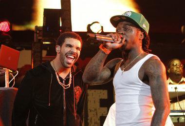 """Lil Wayne Drake Perform ''believe me """" for first time hot 97 summer jam 2014 Nicki Minaj"""