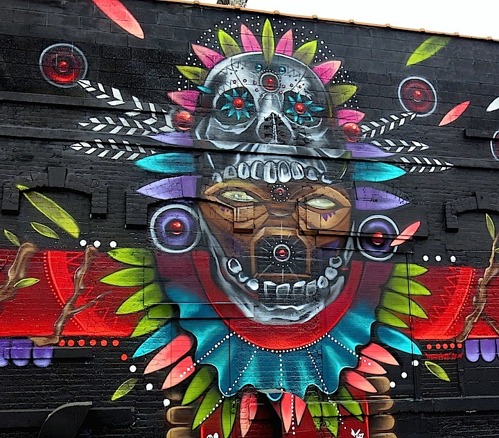 Marca street art close up Juicy art Festival NYC