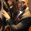 Morris Chestnut Signs GET ON UP Vinyl Record Wall