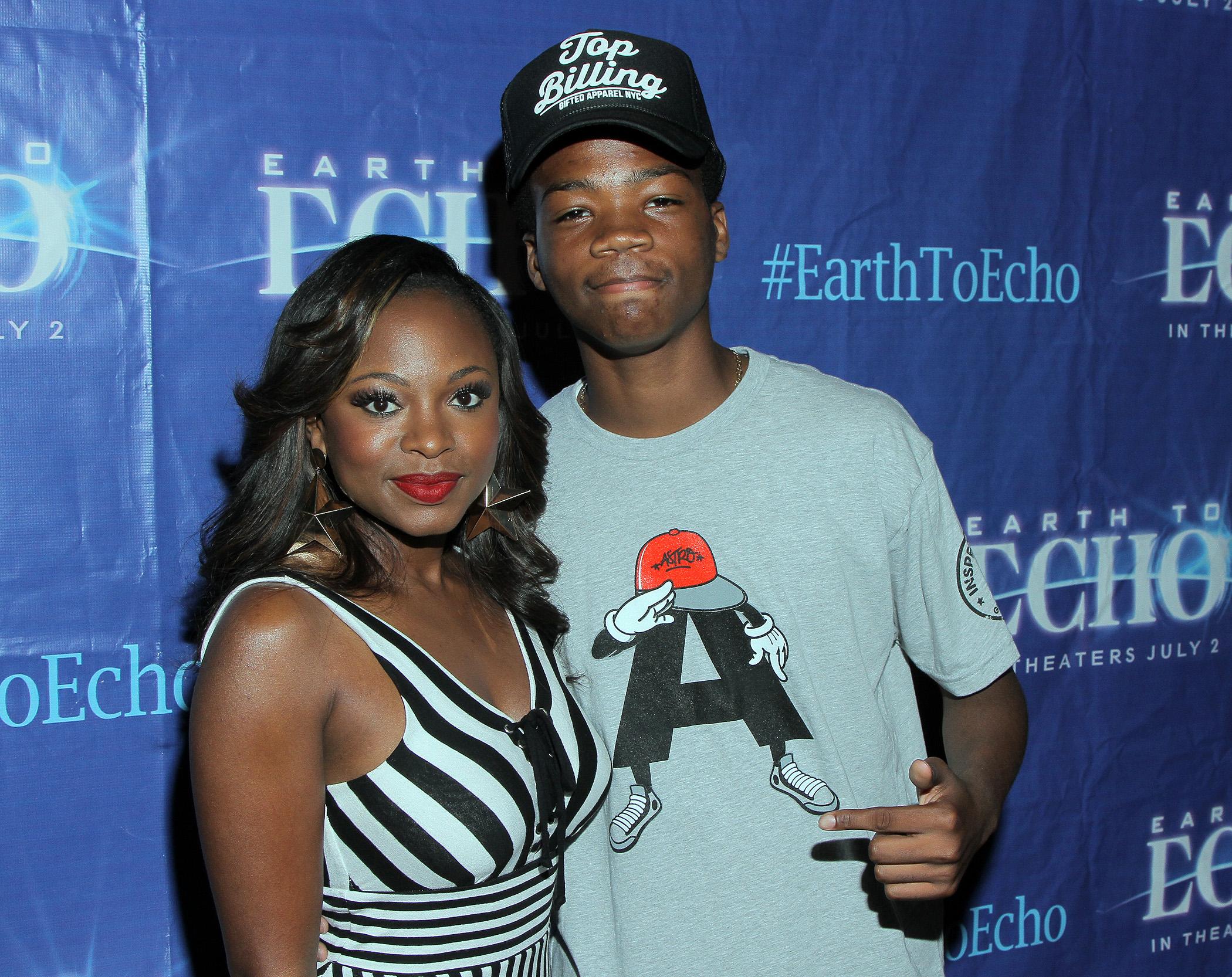 Naturi Naughton and EARTH TO ECHO star Astro