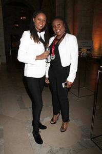 Denisia 'Blu June' Andrews (R) attends Sesac's 2014 Pop Awards.
