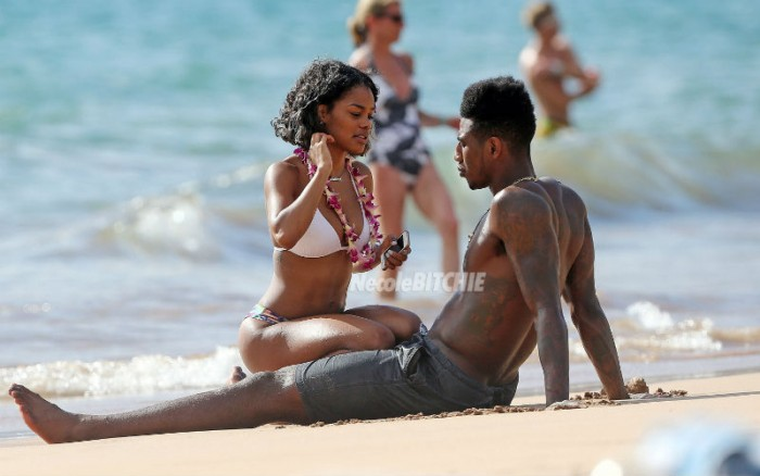 Teyana Taylor spends a day at the beach with Iman Shumpart
