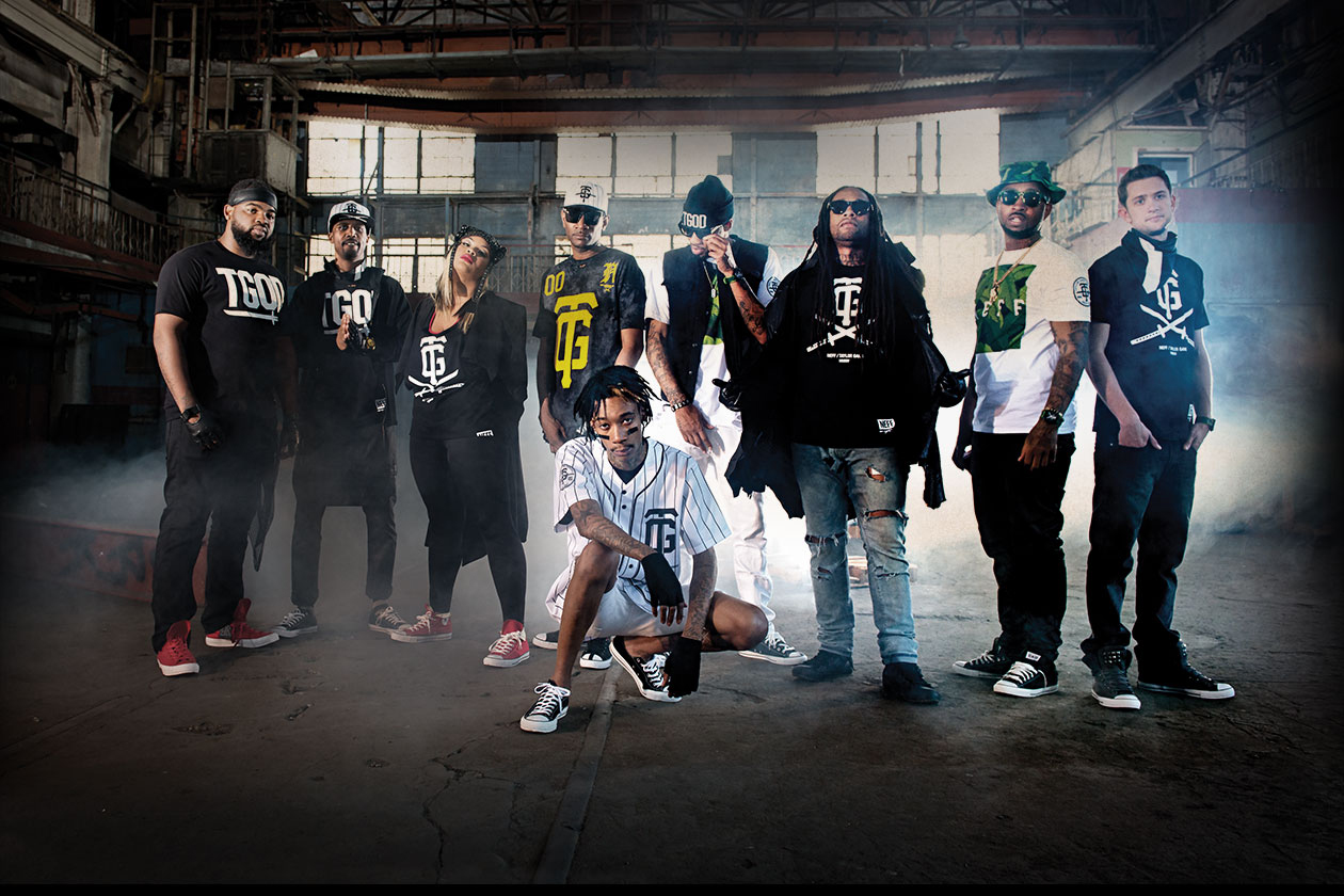 neff wiz khalifa and taylor gang crew launch exclusive collection at zumiez