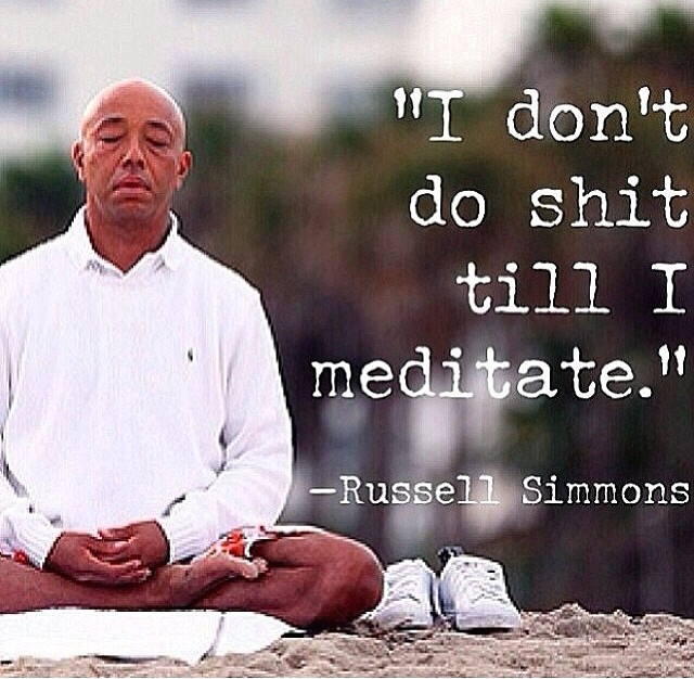 Russel Simmons, meditation, Success Through Stillness, yoga