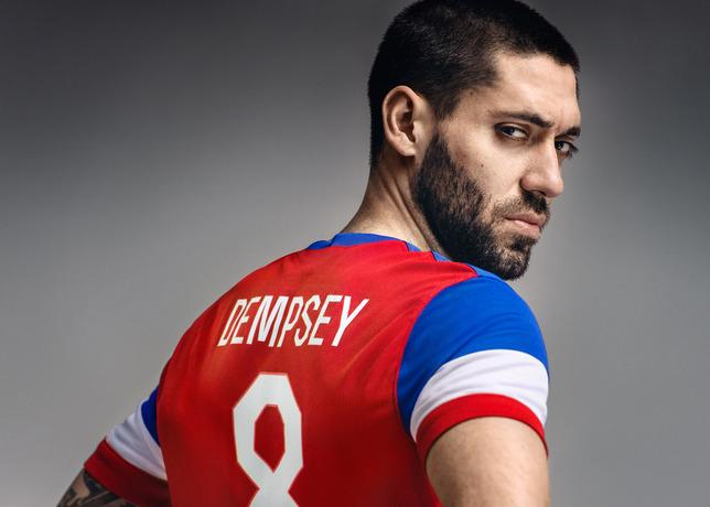 usmnt world cup away shirt clint dempsey back