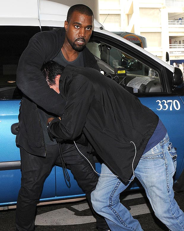 Kanye West tmx unreleased footage airport tips paparazzi advice