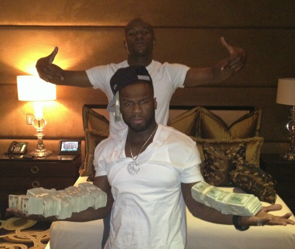 cent and floyd mayweather jr e