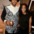 Carmelo Anthony L and Kelly Rowland at Carmelo Anthony Kehinde Wiley Dinner Hosted by GREY GOOSE