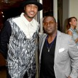 Carmelo Anthony L and Randy Jackson at Carmelo Anthony Kehinde Wiley Dinner Hosted by GREY GOOSE
