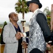 Carmelo Anthony R and Randy Jackson at Carmelo Anthony Kehinde Wiley Dinner Hosted by GREY GOOSE