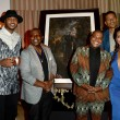 Carmelo Anthony Randy Jackson Kehinde WileyMatt Barnes and Gloria Govan at Carmelo Anthony Kehinde Wiley Dinner Hosted by GREY GOOSE