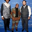 Carmelo Anthony artist Kehinde Wiley and Max Chow at Carmelo Anthony Kehinde Wiley Dinner Hosted by GREY GOOSE