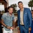 Jermaine Jones L and Matt Barnes at Carmelo Anthony Kehinde Wiley Dinner Hosted by GREY GOOSE
