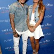 Jermaine Jones L and Sarah Gerth at Carmelo Anthony Kehinde Wiley Dinner Hosted by GREY GOOSE