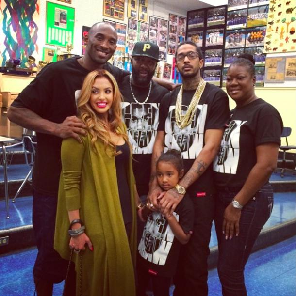 Kobe Vanessa Nipsey Trayvons parents