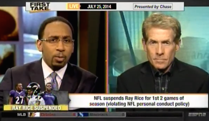 Stephen A Ray Rice