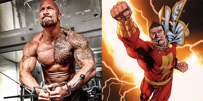 The Rock Captain Marvel
