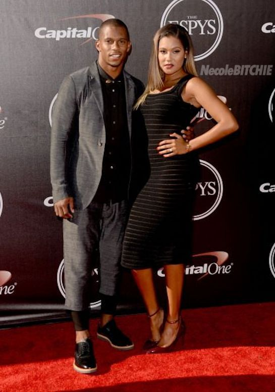 Victor Cruz and Elaina Watley at  ESPY Awards
