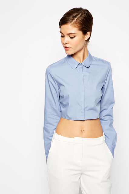 ASOS Crop Shirt, crop top, her source vices, the source magazine, her source fashion, her source crop top,