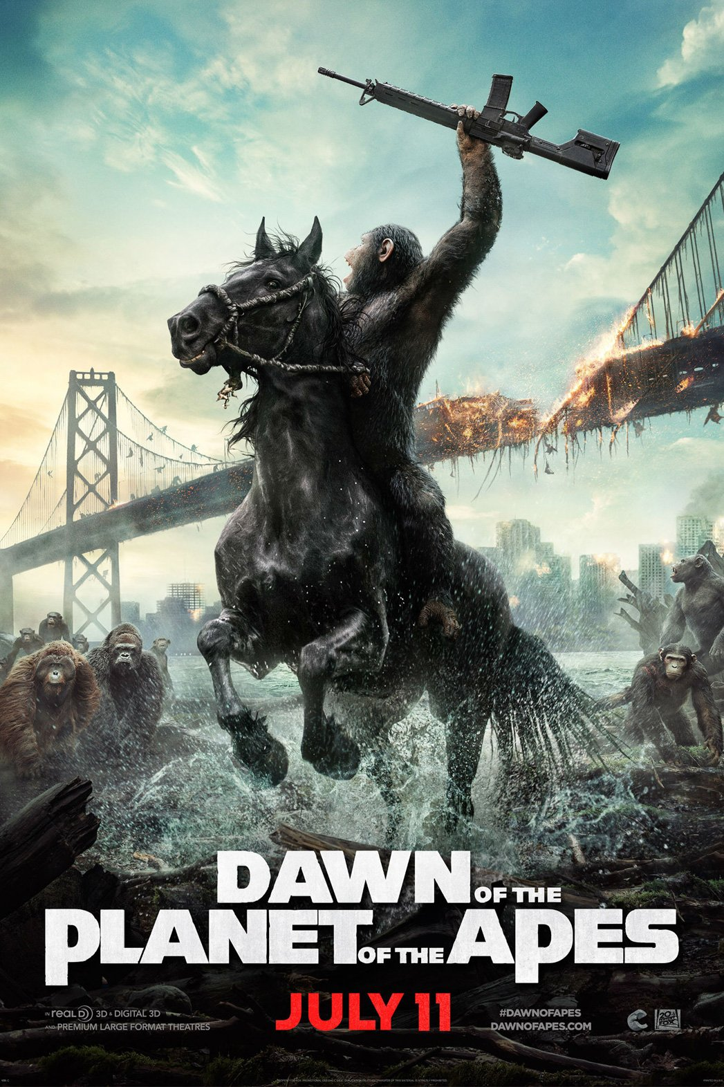 dawn of apes teaser poster