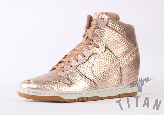 "brand new 2f51e b85ef Sneaker Of The Day Nike Dunk Sky Hi ""Metallic Bronze"""