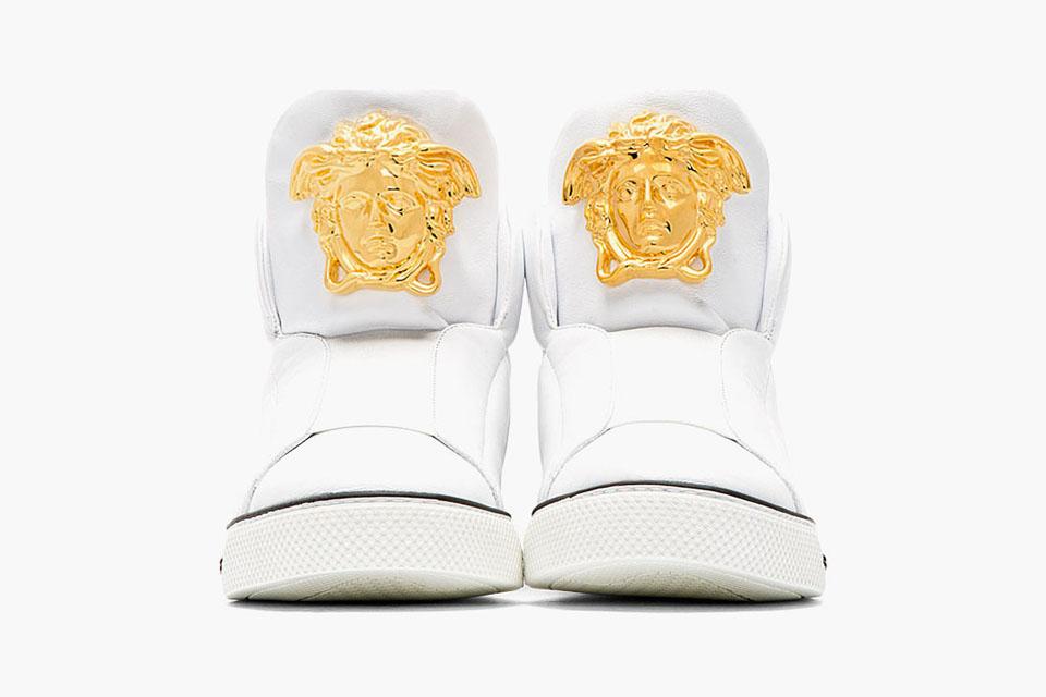 versace leather medusa hi top sneaker