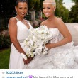 Amber Rose with her mom on her wedding day