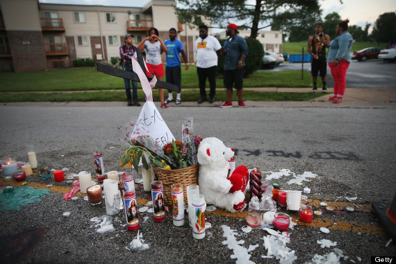 Outrage In Missouri Town After Police Shooting Of 18-Yr-Old Man, ferguson, mike brown, J. Cole Talib Kweli Visit Ferguson MIchael Mike Brown,