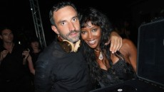riccardo tisci and naomi campbell, naomi campbell, riccardo tisci, givenchy party, riccardo tisci birthday party, the source magazine, beats by dre limited edition,