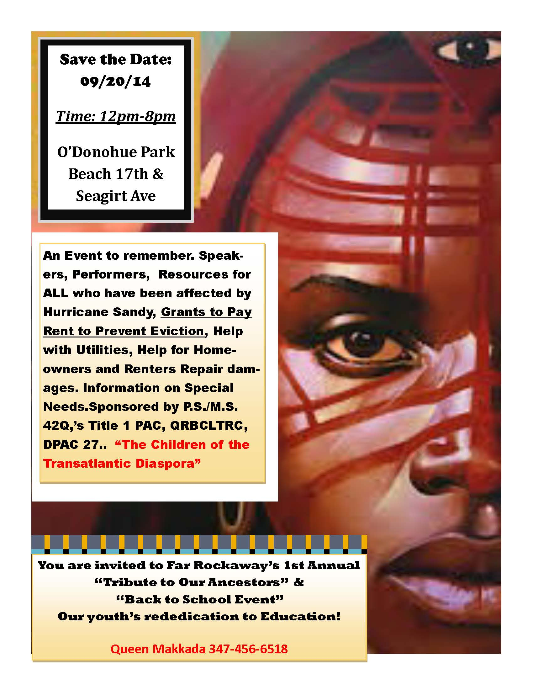 Tribute To Ancestors Back to School Flyer