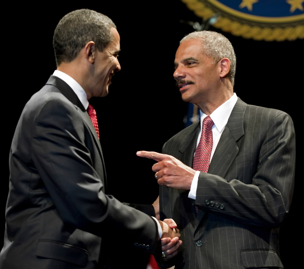 Resigning U S  Attorney General Eric Holder Gets Props From