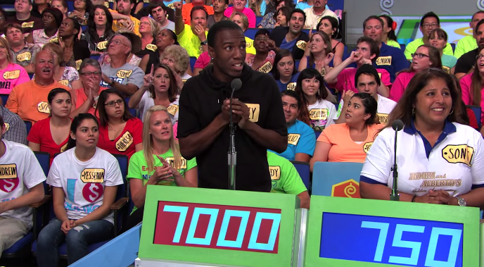 Price is right corey game show 7000 hammock worst moment