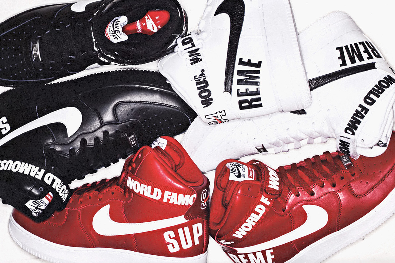 release date: cdad6 b2d76 The Long-Awaited Nike Air Force 1 x Supreme 20th Anniversary Collection Has  An Official Release Date   The Source