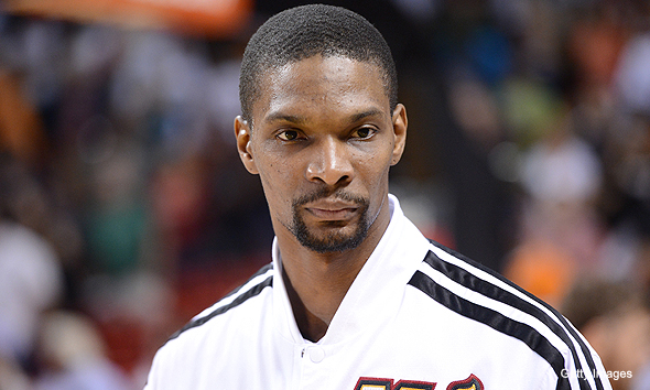chris bosh just standing there