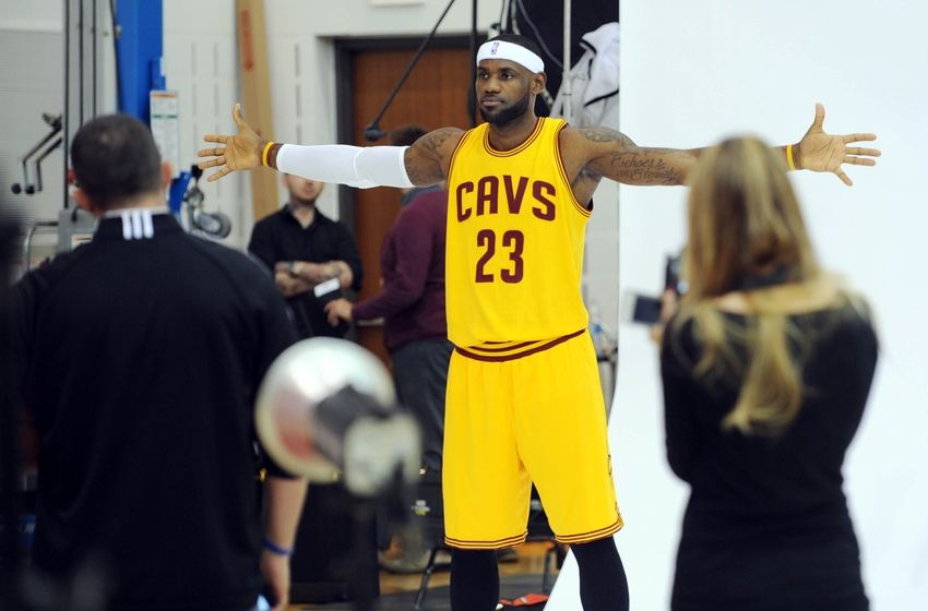 lebron james nba cleveland cavaliers media day