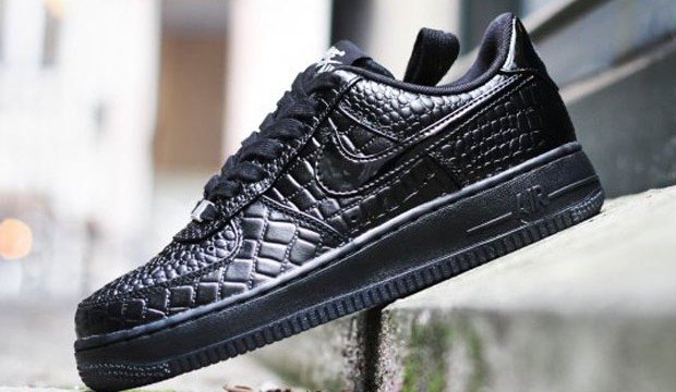 Nike Air Force 1 Delle Donne Nere Crocs PV9YYi