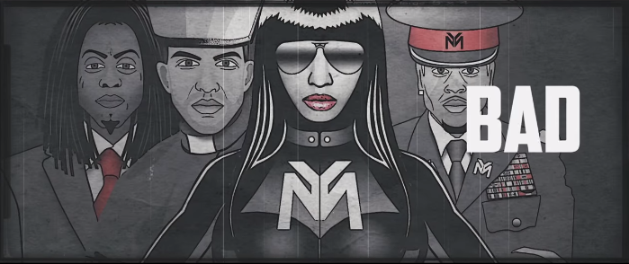 nicki minaj drake chris brown only video nazi imagery