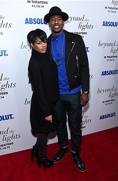Teyana Taylor (L) and basketball player Iman Shumpert attend The New York Premiere Of Relativity Media's 'Beyond the Lights' on November 13, 2014 in New York City sponsored by Absolut.
