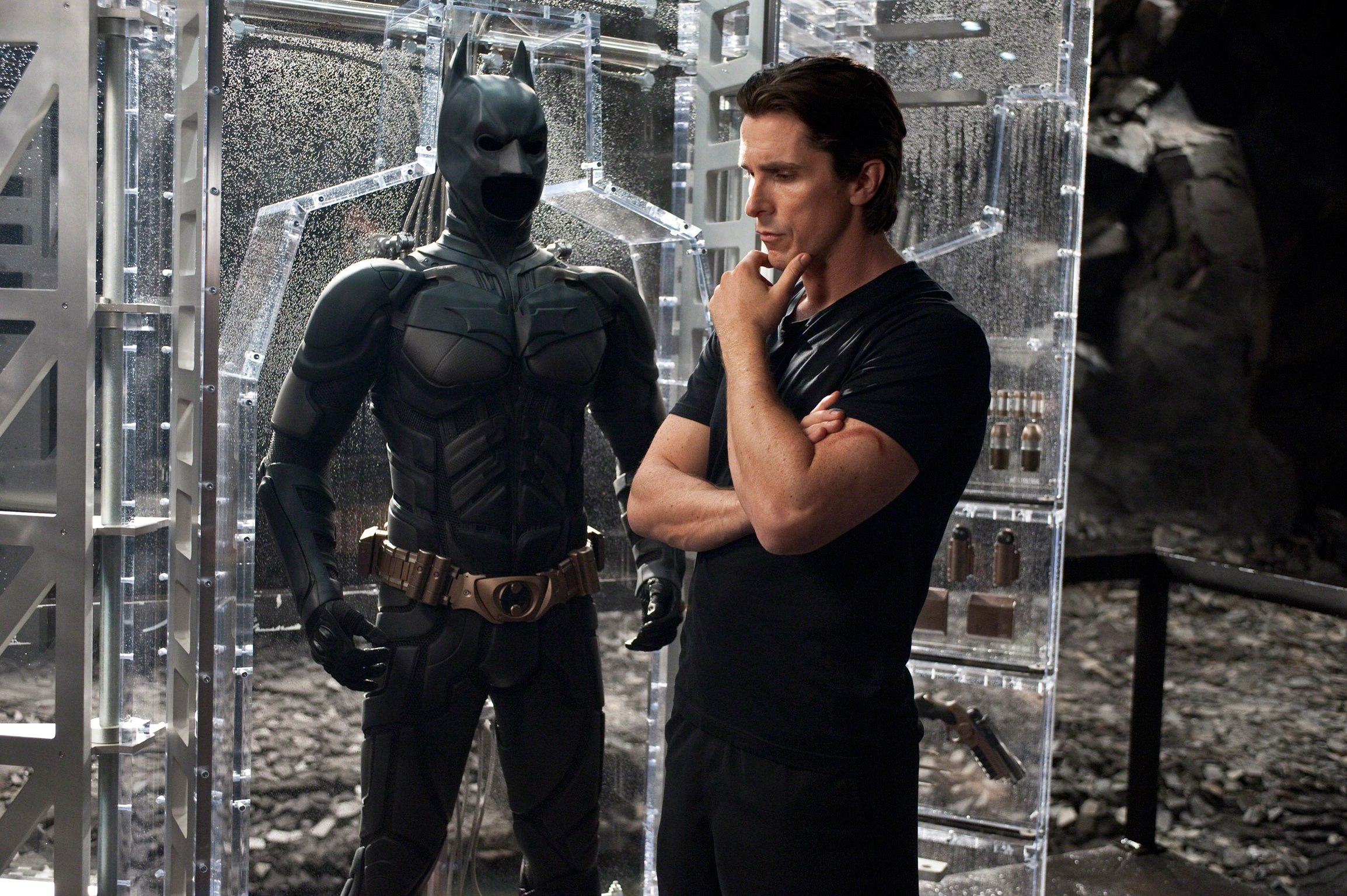 christian bale batcave batman ben affleck