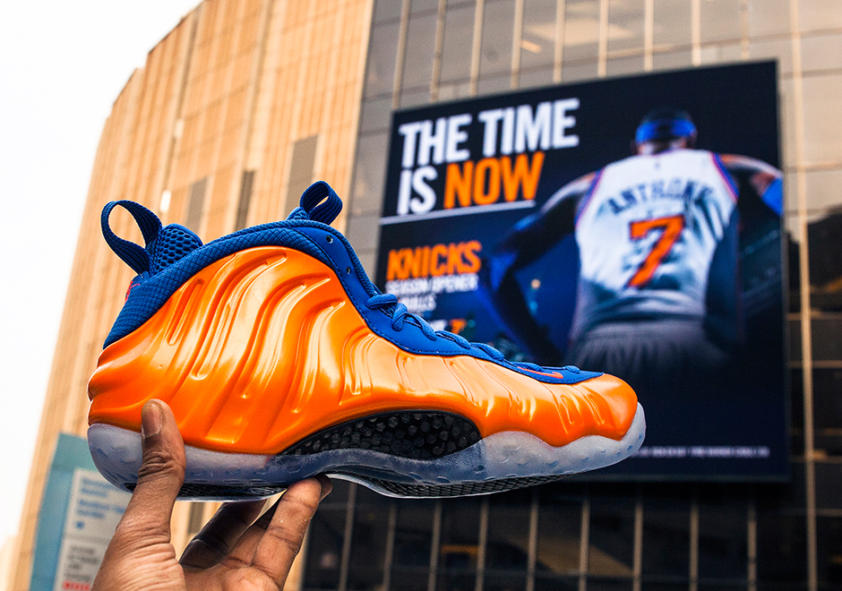 "new style 1c4e8 b6e09 Sneaker Of The Day  Nike Air Foamposite One ""Knicks"""