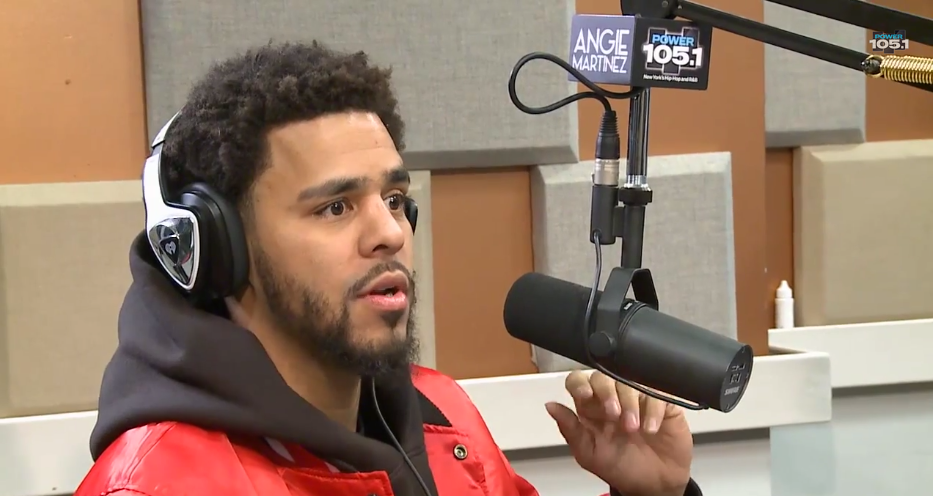 j. cole, interview, power 105.1, angie martinez, be free, david letterman, 2014 forest hills drive,