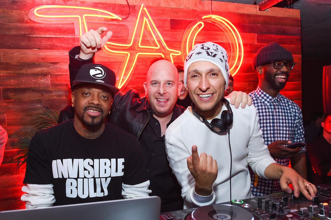 Jermaine Dupri Noah Tepperberg and DJ Vice at Elyx presents TAO Nightclub at Sundance