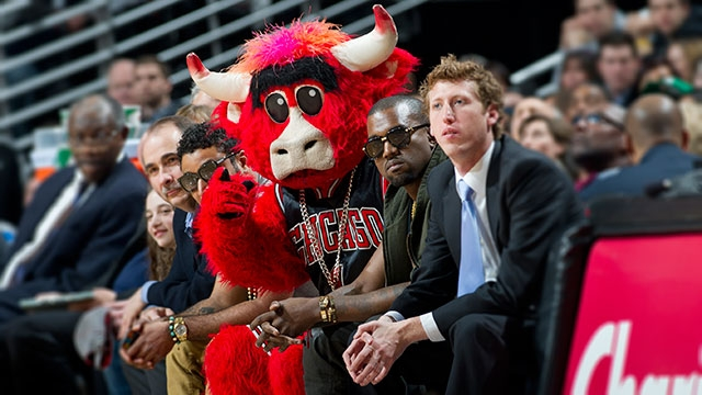 23ce823431f Chicago Mascot Benny The Bull Steals A Celtics Fan's Girl On The Kiss Cam