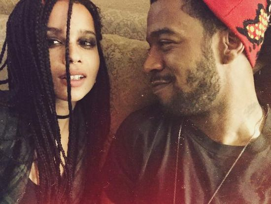 kid cudi just wrapped up filming new movie with zoe