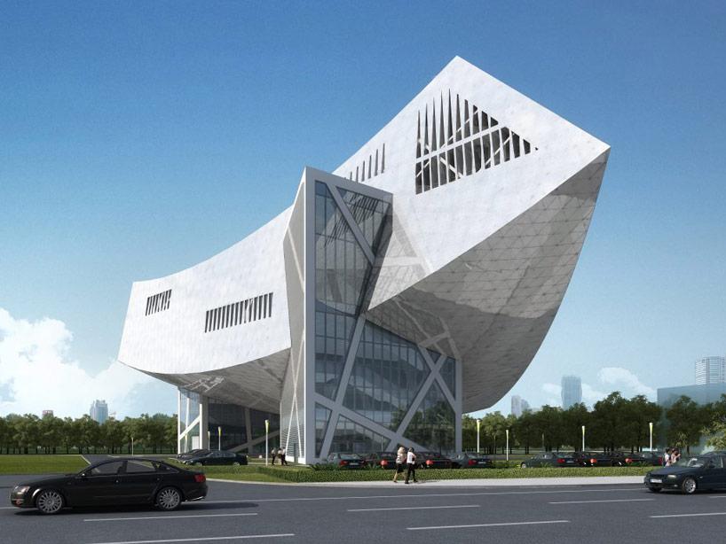 daniel libeskind zhang zhidong modern industrial museum park china designboom