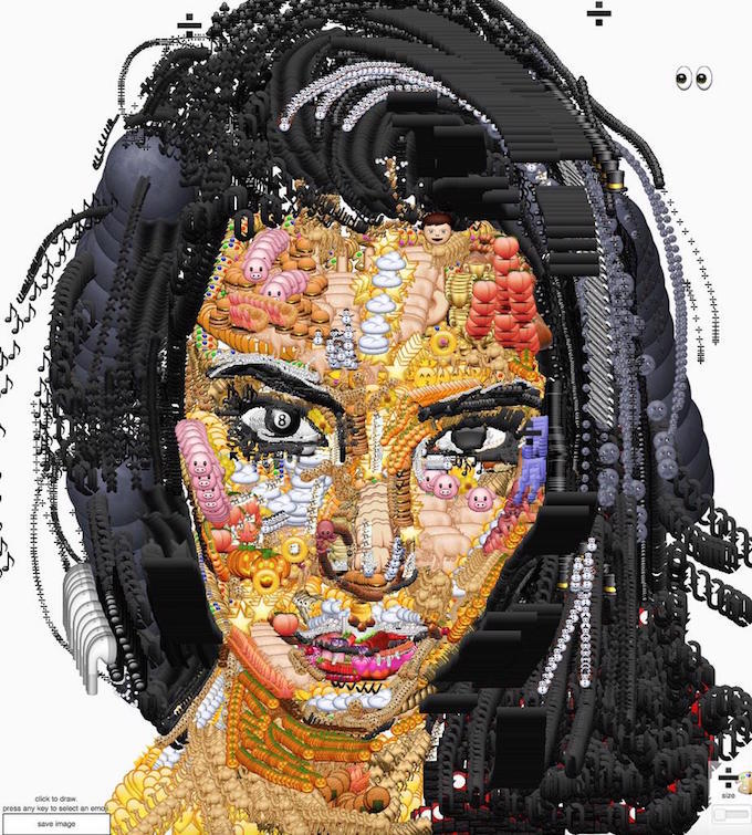 kim kardashian, emoji portrait, yung jake