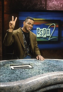 Stuart Scott on the ESPN 2 set 1993