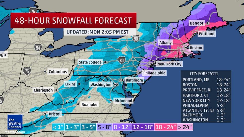 The Northeast Prepares For Winter Bombogenesis Juno The