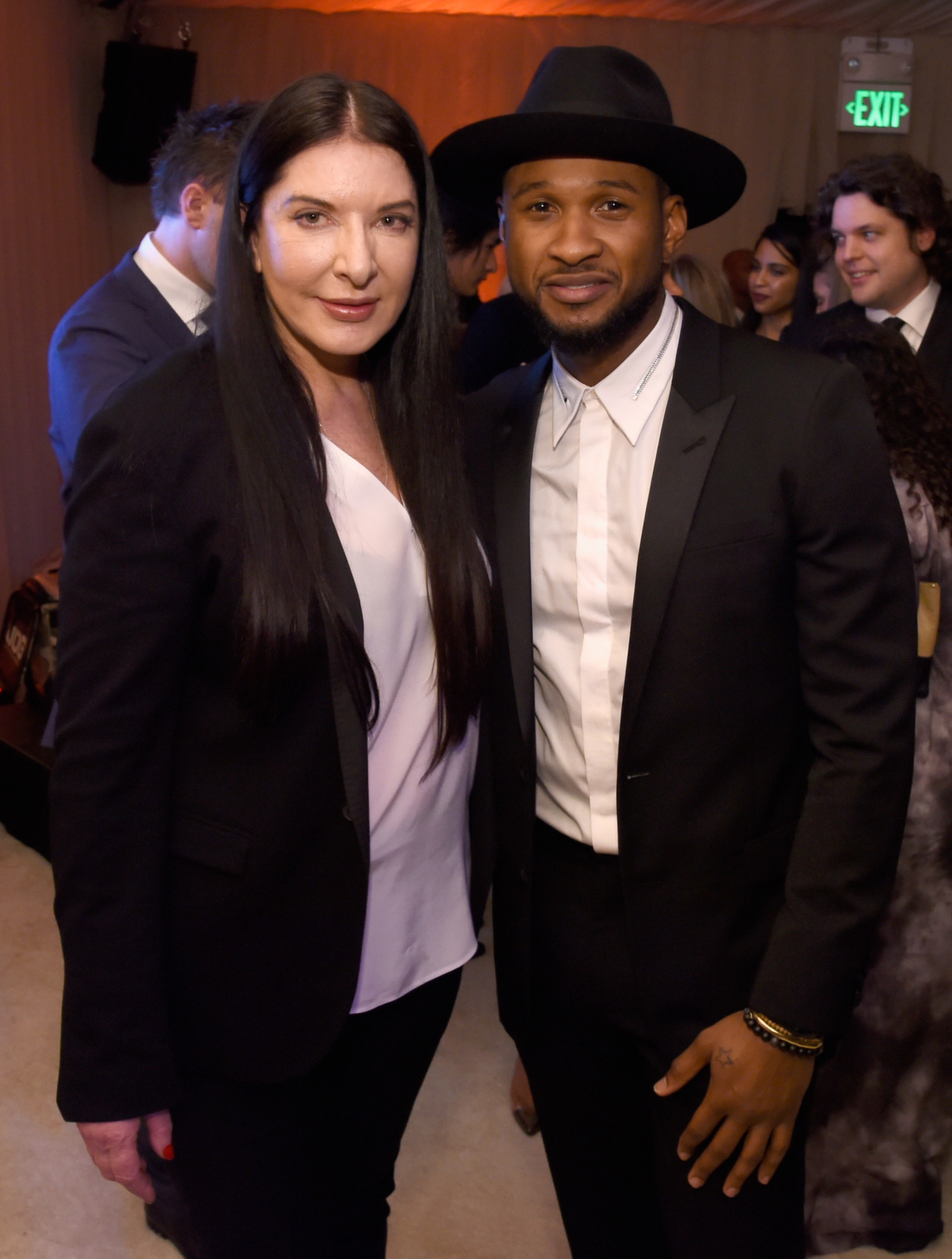 marina abramovic and usher attend grey goose supported art of elysium th annual heaven gala