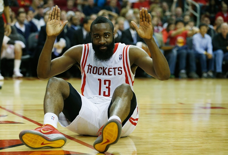 james harden arms up